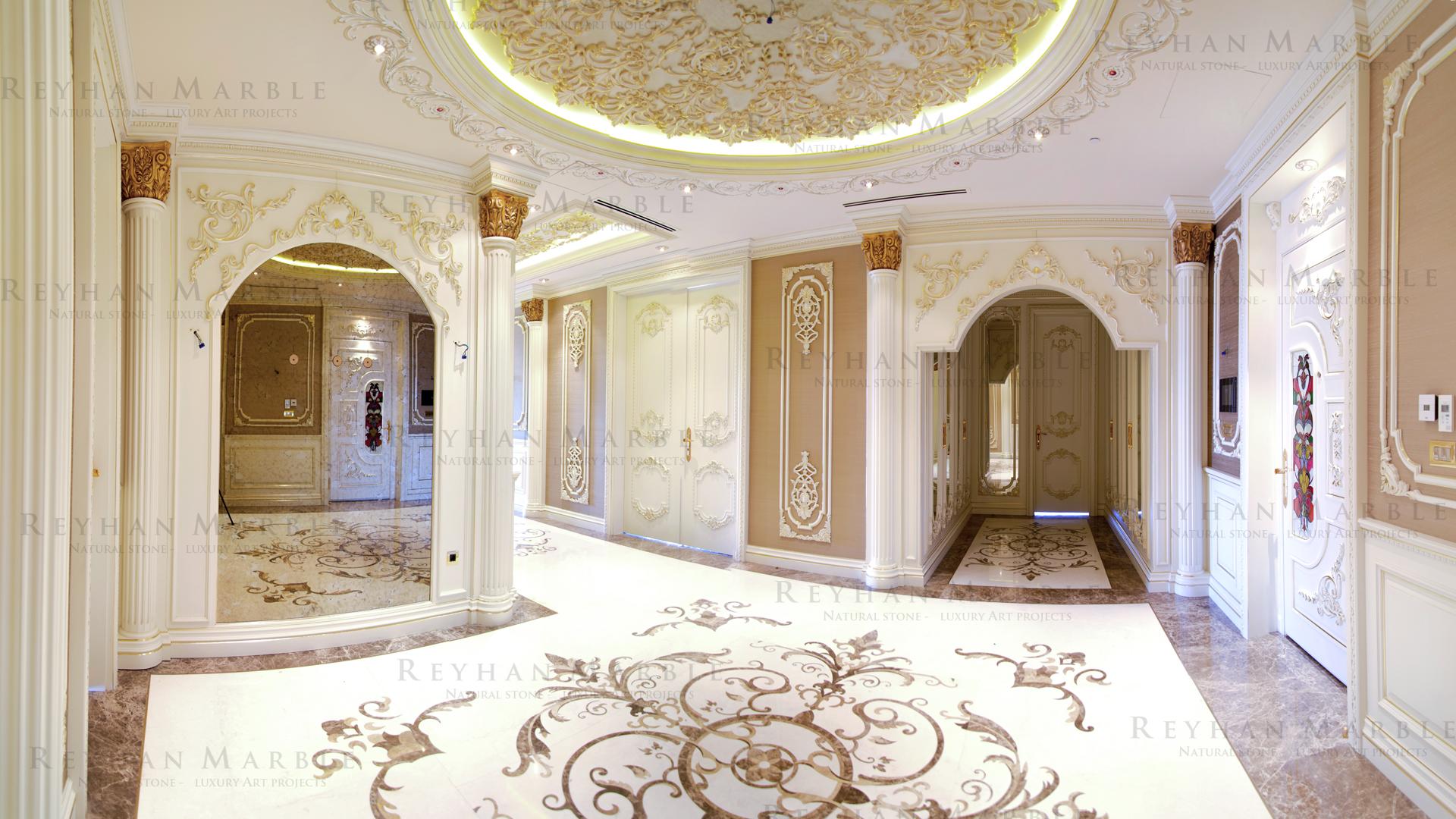 decorative marble pavement